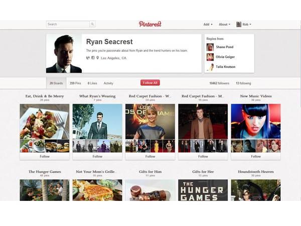 Ryan Seacrest Pinterest