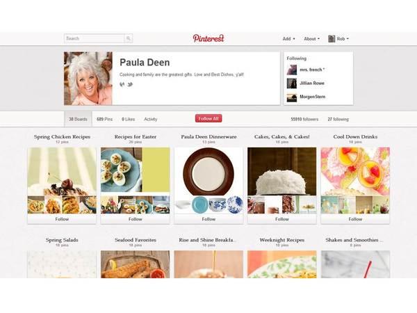Paula Deen Pinterest