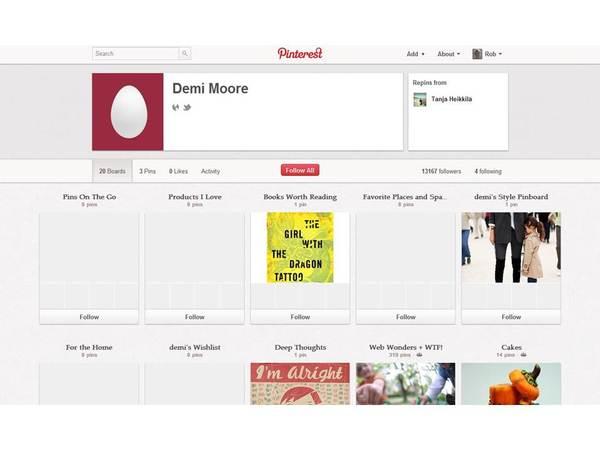 Demi Moore Pinterest