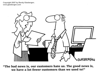 It takes 2X as much to get a new customer as it costs to keep an ...