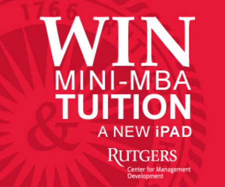 Rutgers Mini-MBA Tuition Sweepstakes