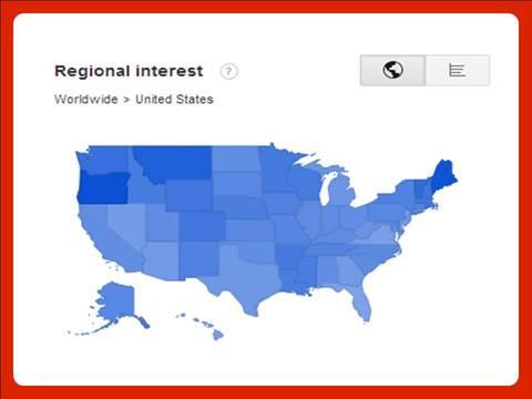 Google Trends regional interest