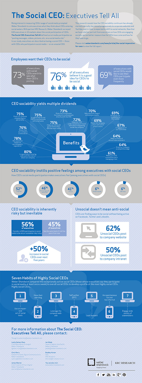 Social CEO Infographic