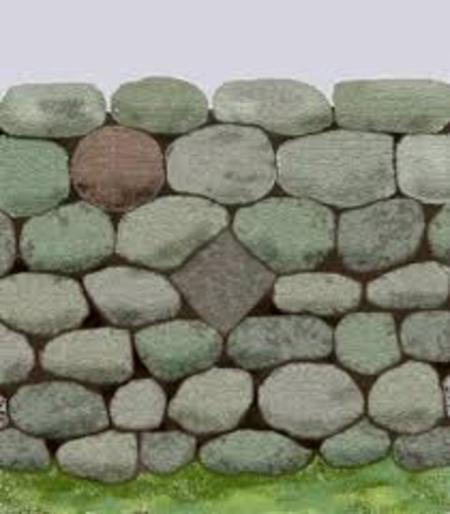 free standing stone wall