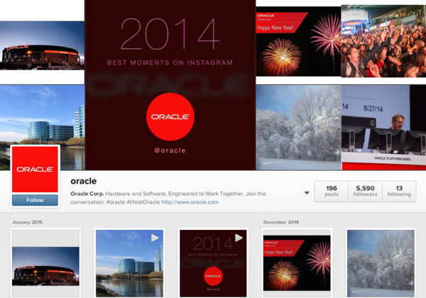 Oracle - social media engagement