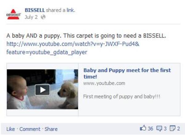 bissell - social media engagement