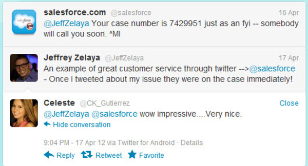 sa;esforce = social media engagement