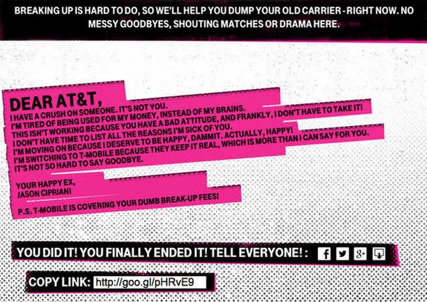 T-Mobile  social media engagement