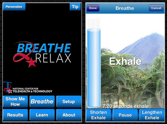 mobile apps Breathe2Relax