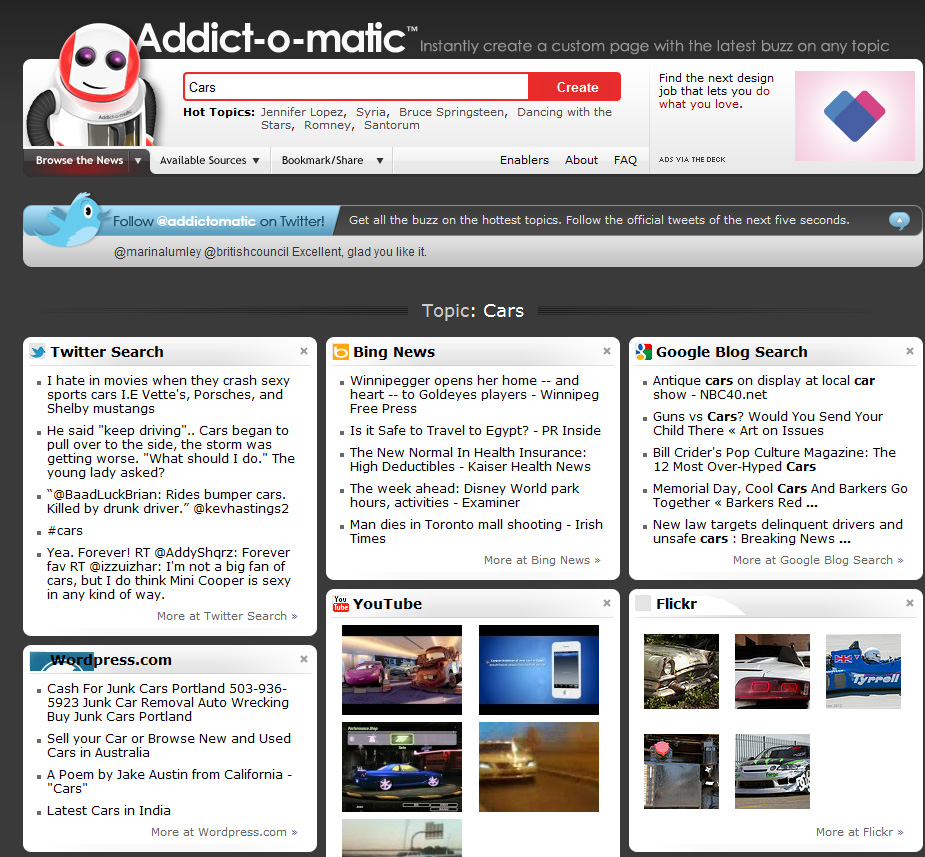 social listening tools addictomatic