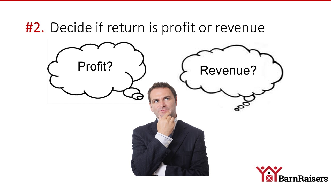 roi profit or revenue