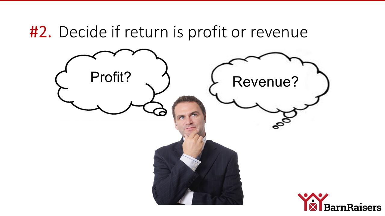 roi profit or revenue