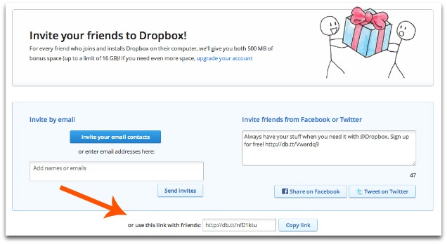 growth hacking case studies - dropbox
