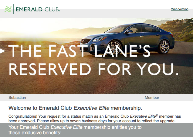 customer loyalty programs - national car rental emerald club