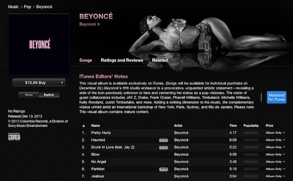growth hacking case studies - beyonce