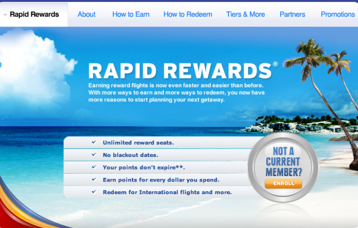 customer loyalty programs - southwest rapid rewards