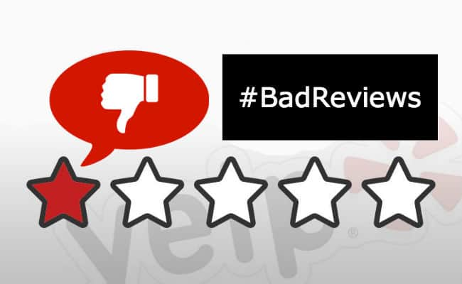 negative online reviews
